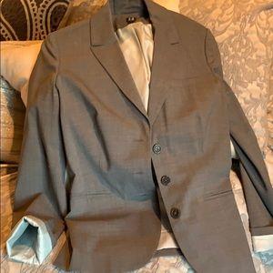Tommy Hilfiger blazer in gray w pale blue lining